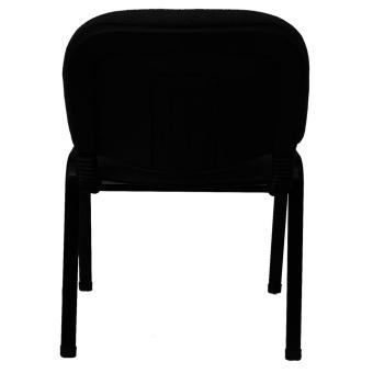 Ergodynamic DVC-103BLK6 Guest Chair Stackable Furniture (Black) - 3