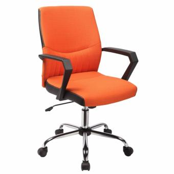 Ergodynamic EMC-122ORG Designer Mid back Office Chair, Fabric Chair, Desk Chair (Orange)