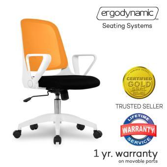 Ergodynamic EMC-16ORG Mid Back Mesh Conference Office Chair witharmrests (Orange) - 2