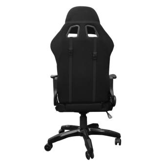 Ergodynamic F1-BLK FAB Racing Fabric Hi-Back Swivel and PneumaticHeight Adjustment Gaming Office Chair Furniture (Black) - 4