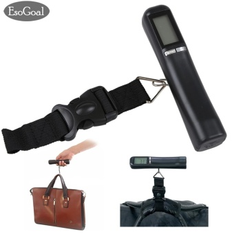 EsoGoal Electronic Digital Hanging Luggage Scale Portable Compact Luggage & Suitcase Weighing Scale Handheld 88 lb/40 kg -intl - intl