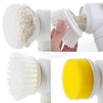 EsoGoal Power Scrubber Electric Cleaning Brush Battery Powered Cordless Spin Scrubber for Kithchen/Bathtub/Shower/Bidet (White) - intl - 2