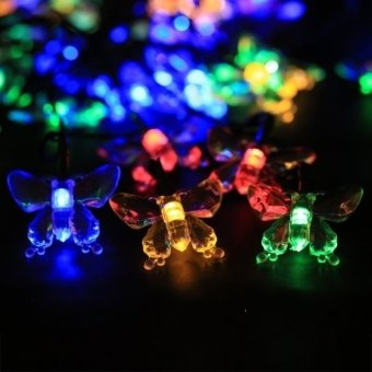 ETOP Solar Powered 40 LED String Lights for Room Garden Christmas Birthday Party (Purple) (Intl) - picture 2