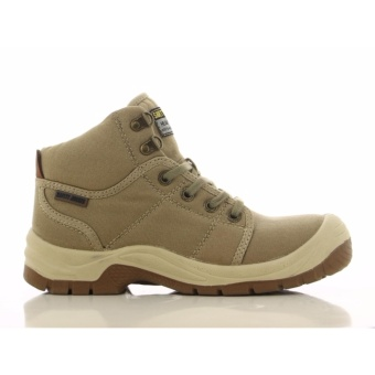 [EU SIZE 39] Safety Jogger Desert Steel Toe Cap and Steel Midsole Safety Shoes (Khaki)