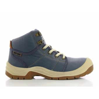 [EU SIZE 45] Safety Jogger Desert Steel Toe Cap and Steel Midsole Safety Shoes (Blue)