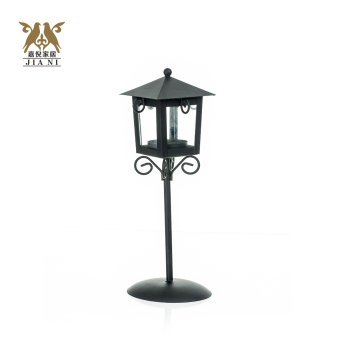 European-Style Iron Fragrance Warmer Glass Candle Holder