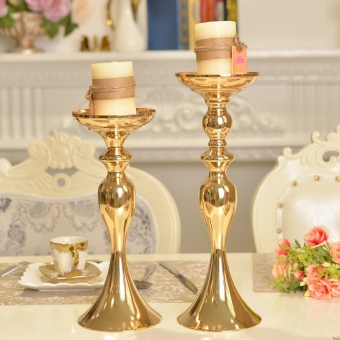 European-style Modern Tall Candle Holder - Gold - Silver - Black - White