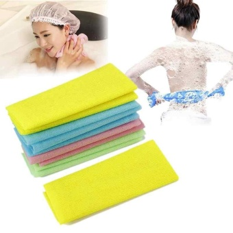 Exfoliating Nylon Bath Shower Body Cleaning Washing Scrubbing TowelScrubbers - intl