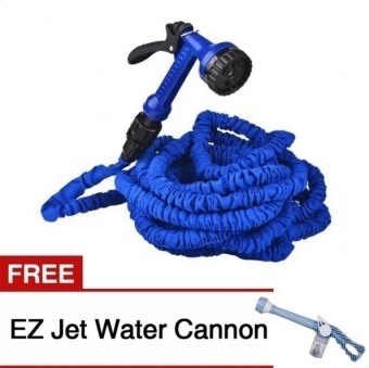 Expandable Garden Hose Up to 50Ft (Blue) with Free EZ Jet