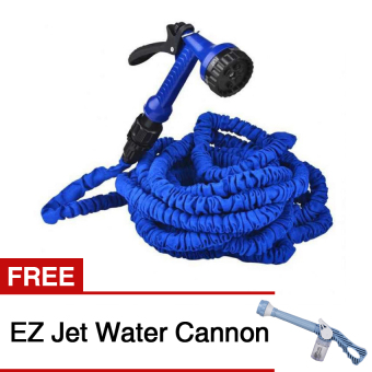 Expandable Garden Hose Up to 50Ft (Blue) with Free EZ Jet WaterCannon