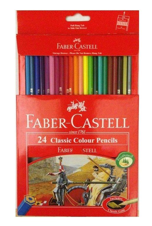 Faber-Castell Classic Colour Pencils 24 Colors Long | Lazada PH