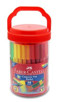 Faber-Castell Connector Pens 50 Colors in Bucket