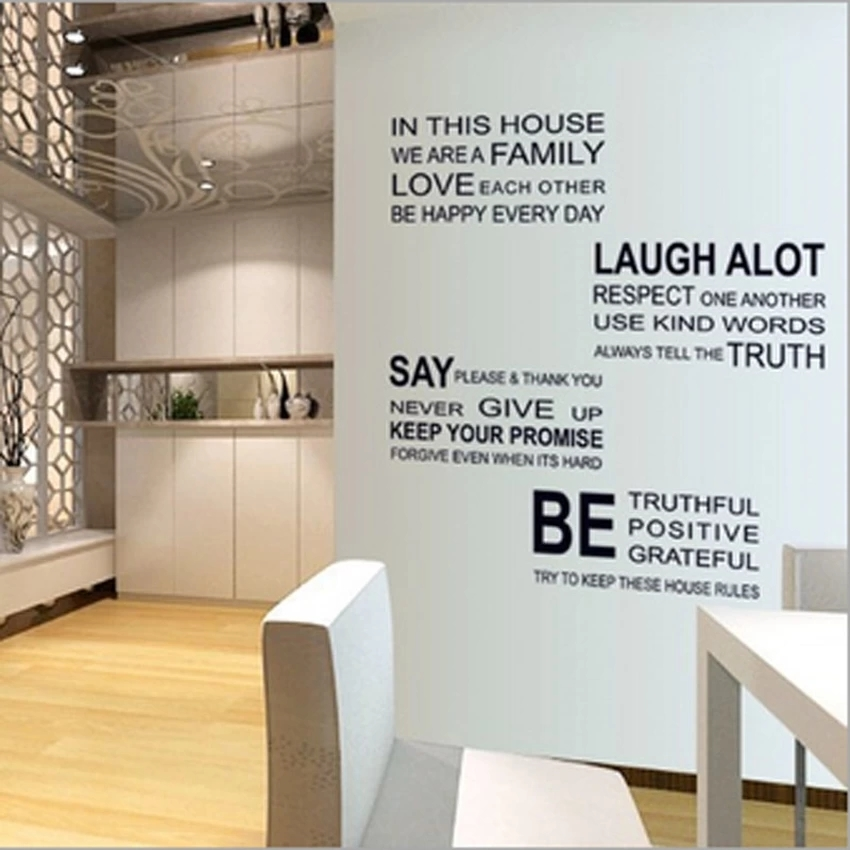 Philippines Family House Rules Stickers Wall Decal Removable Art