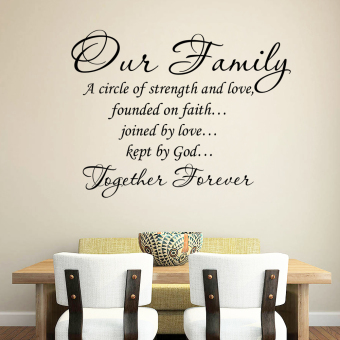Family PVC Removable Art DIY Wall Sticker Price Philippines