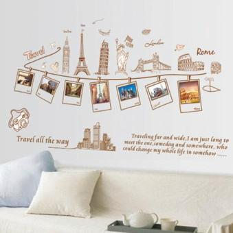Famous building travel living room restaurant wall stickers