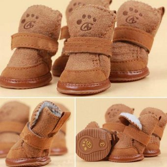 Fancy Dress up Pet Dog Chihuahua Boots Puppy Shoes For Small Dog S- intl