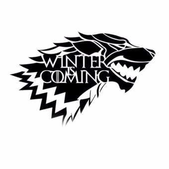 Fancyqube New Removable Game of Thrones Wolf Wall Decal Stark Winter is coming Art Vinyl Home Wall Sticker Living Room Decal - intl