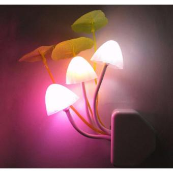 Fantastic Mushroom Light Sense Control Led Night EU Adapter Wall Lamp