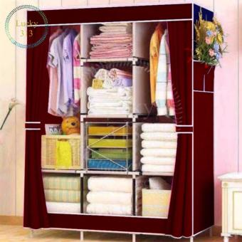 Fashion Cloth Storage Wardrobe (Maroon)