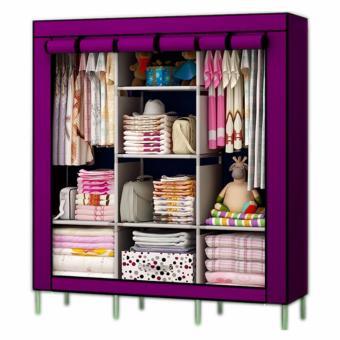 Fashion Clothes Wardrobe Storage Cabinet Dust Cover (Pink)