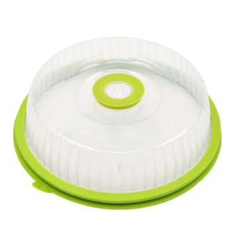 Fashion Food Fresh Cover Lid PP Silicone Good Sealing PerformanceFood Fresh Keeper Lid with Rotate Date Valve for MicrowaveRefrigerator Green and Clear - intl