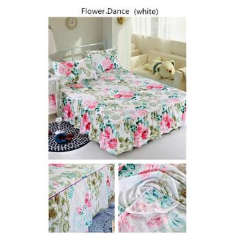 Fashion high-quality soft cotton bed skirt, bedspread stripes pattern - intl