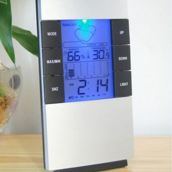 Fashion Hot LCD Electronic Digital Temperature And Humidity MeterWith A Backlight Thermometer Hygrometer Alarm Clock - intl