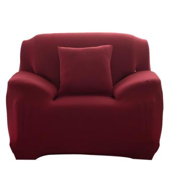 Fashion Slipcover Stretchable Pure Color Sofa Cushion Cover(ChairWine Red) - intl