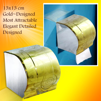 Fashion Tissue Holder Wall Mounted Stainless Steel BathroomLavatory Toilet Paper Holder and Dispenser