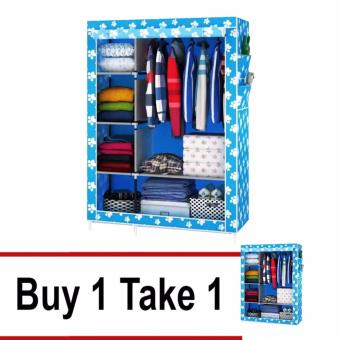 Fashion Wardrobe Closet (Blue) Buy 1 Take 1