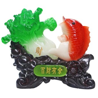 Feng Shui Pak Choy with Fish for Wealth Luck