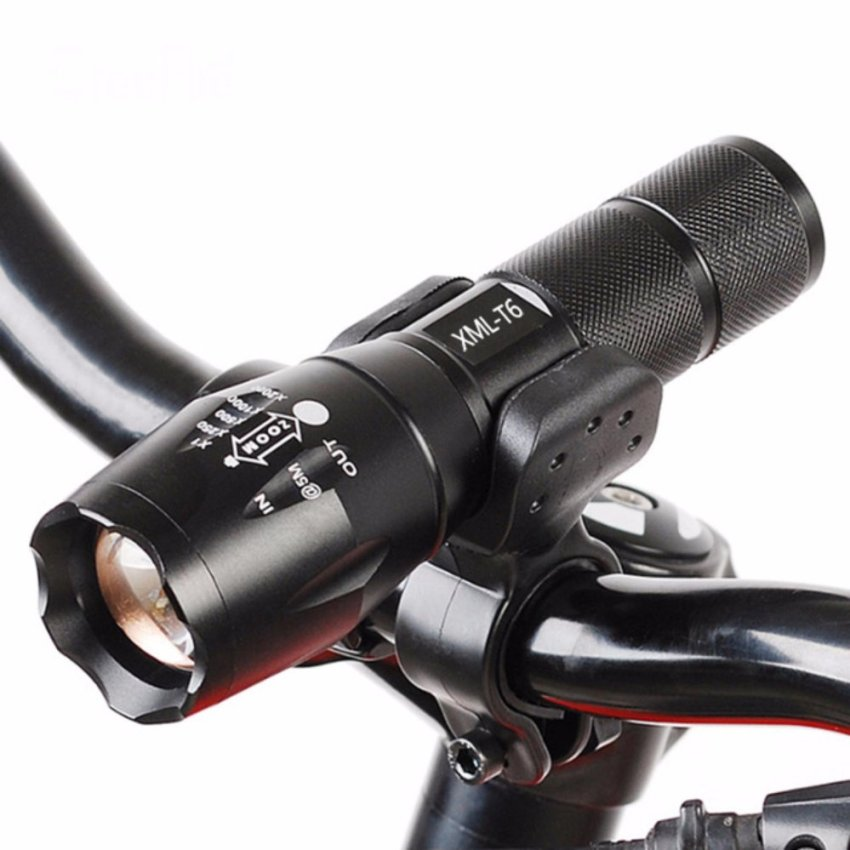 FFY Professional Waterproof Flashlight CREE XM-L T6 3800LM BicycleLight Torch Zoomable LED Flashlight Bike Light With Torch Holder -intl
