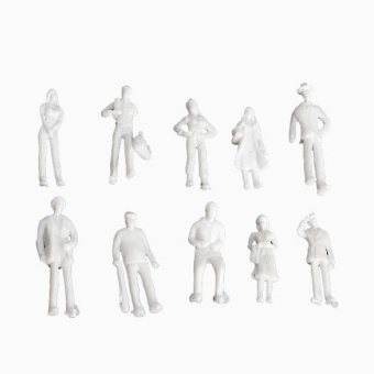 Figures 1:200 Scaled Models Train Building People for Layout100-piece Set - intl - 4