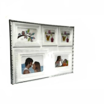 Five Frame Collage Picture Frame (White) - picture 2