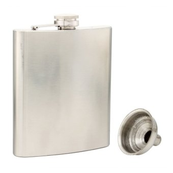 Flacon Acier Inoxydable Portable Pratique Flacon Quatre Onces+Entonnoir 198ml