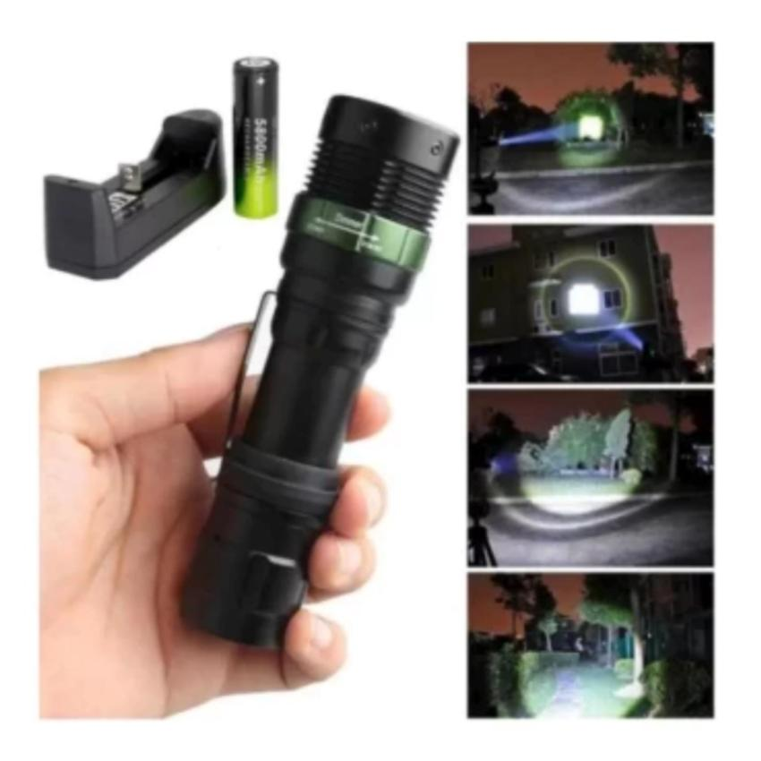 Flashlight 3500 T6 LED Torches Torch Zoomable Flashlight 5Fashion+Charger +Battery