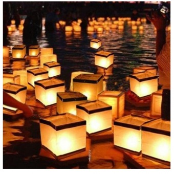 Floating Lanterns, Homecube Outdoor Water Floating Candle LanternsBiodegradable Floating Water Lanterns for Wishing, Praying,Pack of10