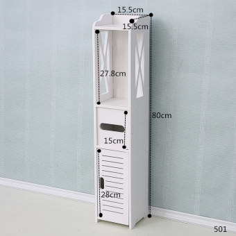 Floor bathroom storage cabinet bathroom shelf