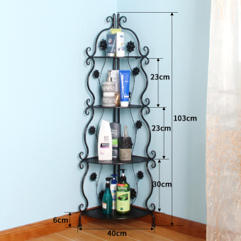 Floor bathroom toilet basin rack bathroom shelf