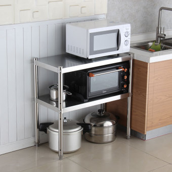 Floor stainless steel cabinet storage rack kitchen shelf