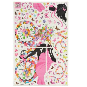 Flower & Girl Removable Wall Sticker Vinyl Decal DIY Room Home Mural Decor - 3