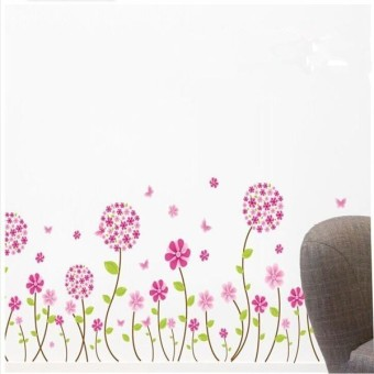 Flower Romatic TV Brackground Removable Vinyl Wall stickers