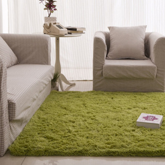 Fluffy Rugs Anti-Skid Shaggy Area Rug Dining Carpet Floor Mat Grass greet