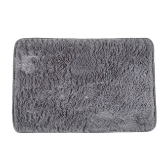 Fluffy Rugs Anti-Skid Shaggy AreaHome Bedroom Carpet Floor Mat Gray