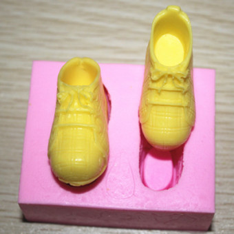 Fm048 silicone chocolate athletic shoes sugar cake mold