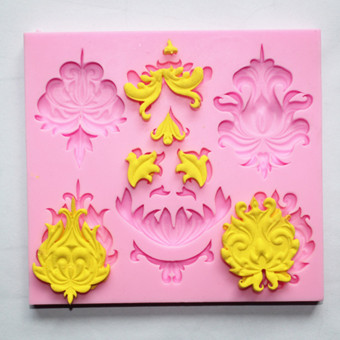 Fm075 retro chocolate sugar lace silicone Mold