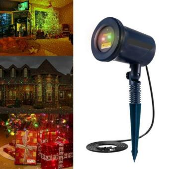 F.M.Z Outdoor and Indoor Christmas Decorative Laser Light with Redand Green Rotating Spot Star Projector with 10 Lighting Modes forChristmas, Holiday, Parties, Landscape, and Garden Creative - intl