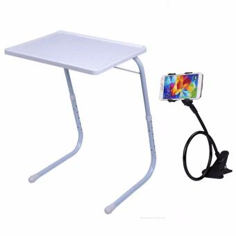 Foldable and Adjustable Multi-Purpose Table Mate 2 (White) with Lazypod Color May Vary