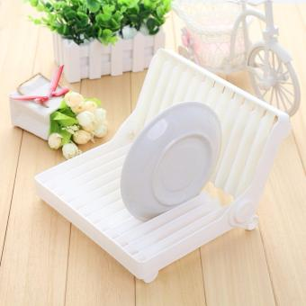 Foldable Dish Drip Rack Plate Drainer Kitchen Drying Holder