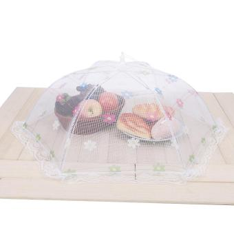 Foldable Food Cover Protector Umbrella Kitchen Mesh Fly Insect Net-S - intl